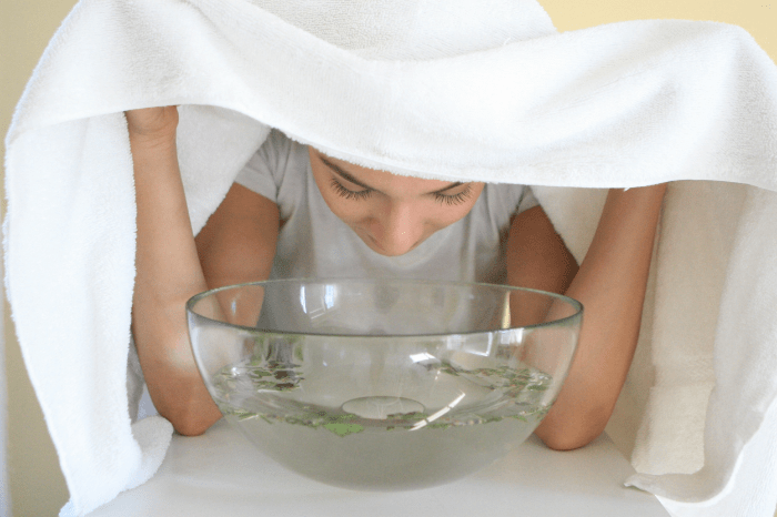 Facial Steaming at Home Using Bowl